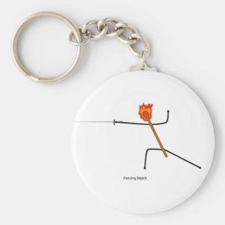 Fencing Match - Keychain