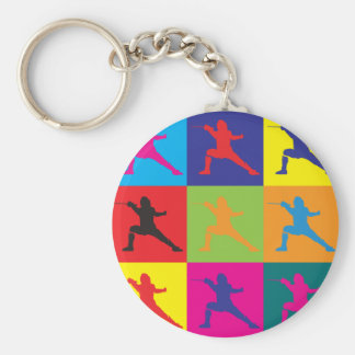 Fencing Pop Art Keychain