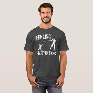 FENCING START 'EM YOUNG - FENCING T-Shirt