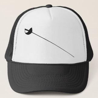 Fencing Sword Outline Silhouette Trucker Hat