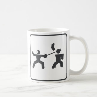 Fencing vs Karate Coffee Mug