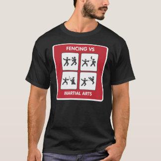 Fencing vs Martial Arts T-Shirt
