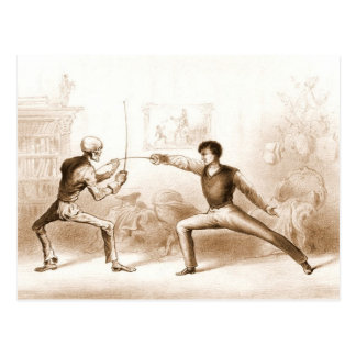 Fencing with Death postcard