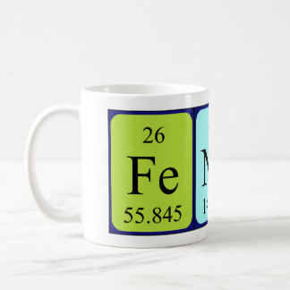 Fender periodic table name mug