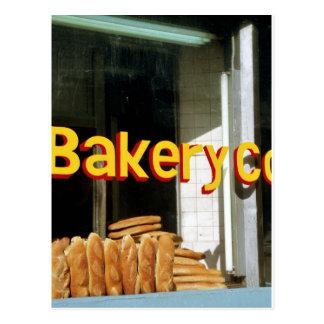 Fenêtre de boulangerie carte postale