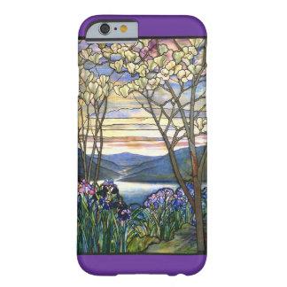 Fenêtre en verre teinté de magnolia et d'iris coque iPhone 6 barely there