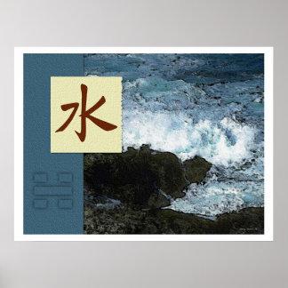 Feng Shui: Bagua Images: Water Landscape Poster
