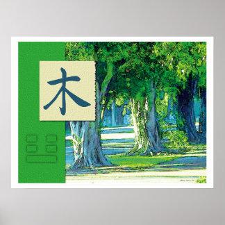 Feng Shui: Bagua Images: Wood Landscape Poster