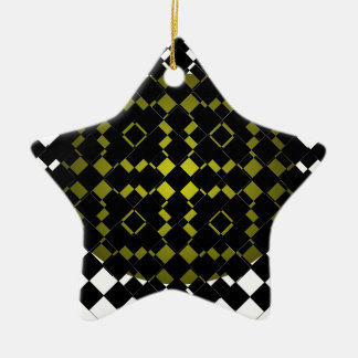 FengShui Fusion Army Green Black Geometric Hipster Christmas Ornaments