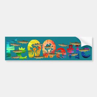 Fennatic Brown Treasure Trout Bumper Sticker