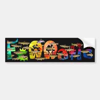 Fennatic Brown Treasure Trout in Black Bumper Sticker
