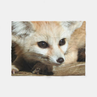 Fennec Fox Fleece Blanket