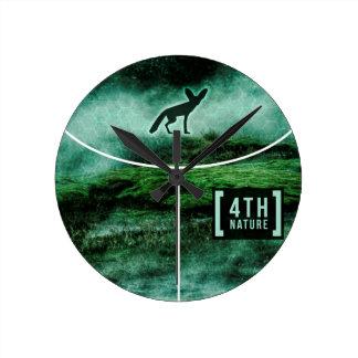 Fennec in nature round clock