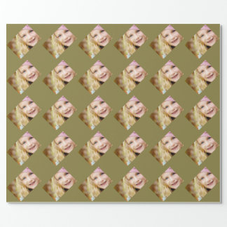 Fennel Khaki Specialized Photo Template Wrapping Paper