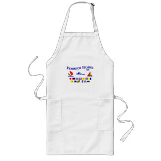 Fenwick Island DE Signal Flags Long Apron