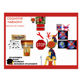 """FEPE """"COGNITIVE HARMONY --PERCEIVE FOR YOURSELF"""" POSTCARD"""