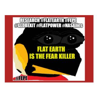 "FEPE ""FLAT EARTH IS THE FEAR KILLER"" POSTCARD"