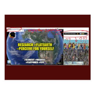 FEPE Globexit Research Flat Earth Postcard