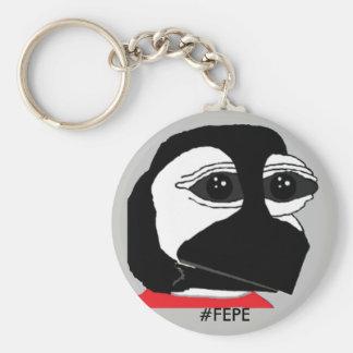 FEPE (YOUTH) (Grey) Basic Round Button Keychain