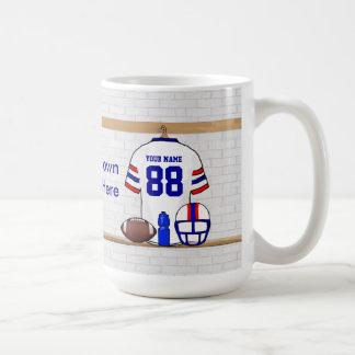 Fer personnalisé WRB de grille de football américa Mug À Café