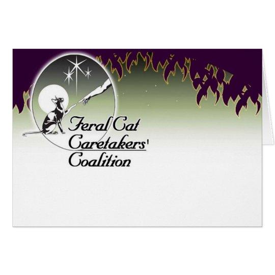 Feral cat Caretakers logo Cards