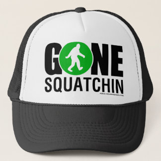 Feral Gear Designs - Gone Squatchin Green Black Trucker Hat