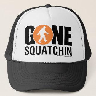 Feral Gear Designs - Gone Squatchin Orange Black Trucker Hat