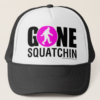 Feral Gear Designs - Gone Squatchin Pink Black Trucker Hat