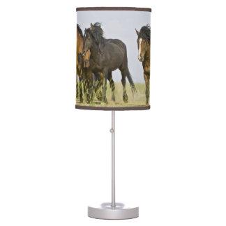 Feral Horse Equus caballus) wild horses 3 Table Lamp