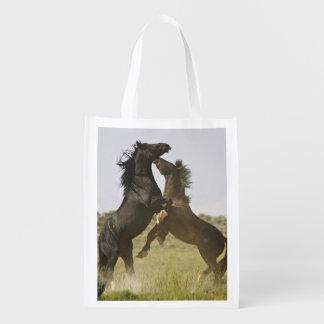 Feral Horse Equus caballus) wild horses Reusable Grocery Bag