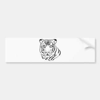 Feral Tiger Drawing Bumper Sticker