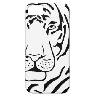 Feral Tiger Drawing iPhone 5 Case