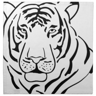 Feral Tiger Drawing Napkin