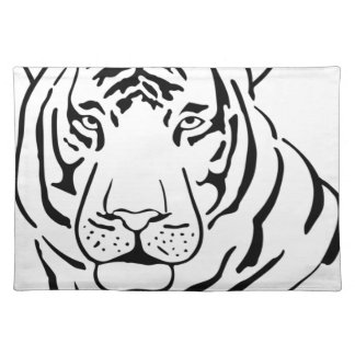 Feral Tiger Drawing Placemat