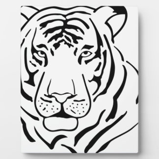 Feral Tiger Drawing Plaque
