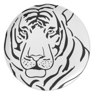 Feral Tiger Drawing Plate