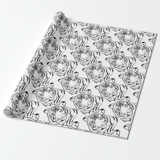 Feral Tiger Drawing Wrapping Paper