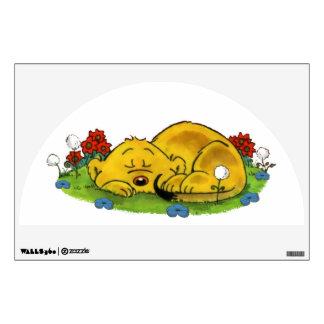 Ferald Sleeping By The Sunflowers Wall Sticker