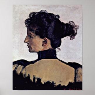Ferdinand Hodler - Berthe Jacques wife of artist Poster