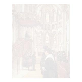 Ferdinand Hodler- Prayer in Saint Pierre Cathedral Letterhead Design