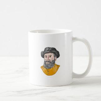 Ferdinand Magellan Bust Drawing Coffee Mug