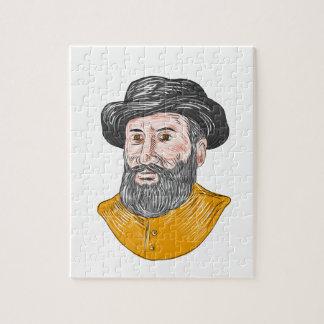 Ferdinand Magellan Bust Drawing Jigsaw Puzzle
