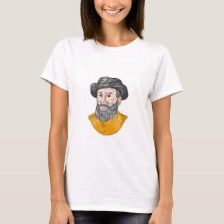 Ferdinand Magellan Bust Drawing T-Shirt