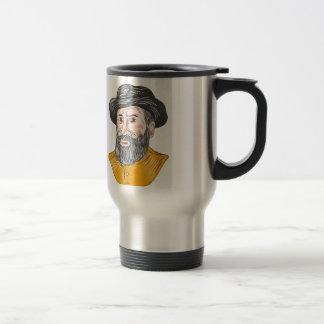 Ferdinand Magellan Bust Drawing Travel Mug
