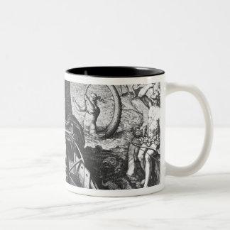 Ferdinand Magellan  on board his caravel, 1522 Two-Tone Coffee Mug