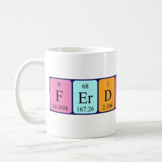 Ferdinand periodic table name mug