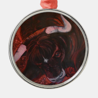 Ferdinand the bull metal ornament