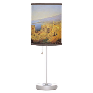 Ferdinand Waldmüller:The ruin of the Greek theater Table Lamp