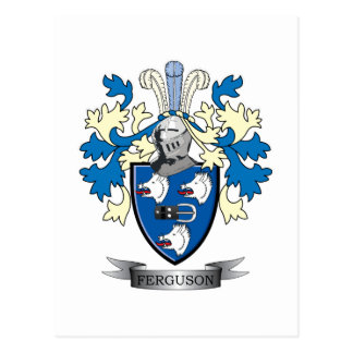 Ferguson Family Crest Coat of Arms Postcard