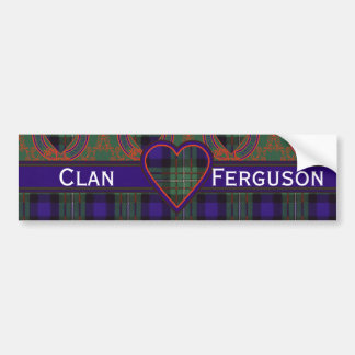 Ferguson Scottish Tartan Bumper Sticker